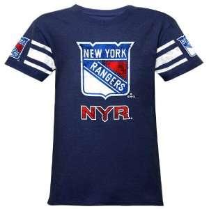Reebok New York Rangers Youth Girls Hockey Fashion V Neck