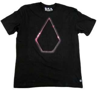 VOLCOM Mens XL Black Total Eclipse Organic Cotton Tee Shirt NWT