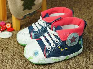 A337 new toddler baby boy blue high top shoes UK 2 3