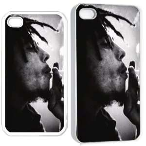 bob marley spliff man p iPhone Hard Case 4s White Cell
