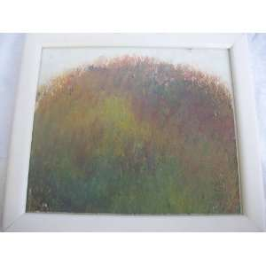 Hand Painted Original Water Color Modern Contemporary White Framed Art