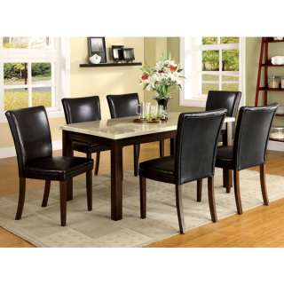 Raven 7 Piece Faux Marble Top Dining Table Set