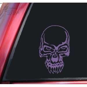 Demon Skull #2 Vinyl Decal Sticker   Lavender Automotive