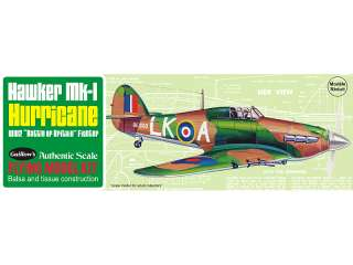 MK 1 HURRICANE BRITISH FIGHTER BALSA WOOD FLYING MODEL KIT 506