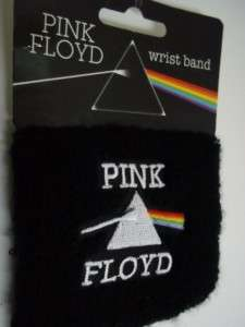 PINK FLOYD BLACK WRIST BAND MUSIC BAND ROCK MUSIC DARK SIDE OF THE