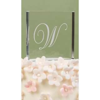 Elegant Monogram Acrylic Wedding Cake Topper Top