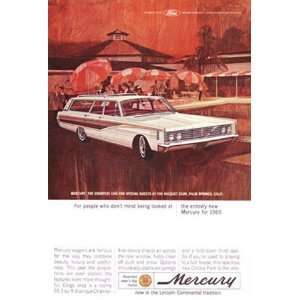 Print Ad 1965 Mercury Colony Park Racquet Club, Palm