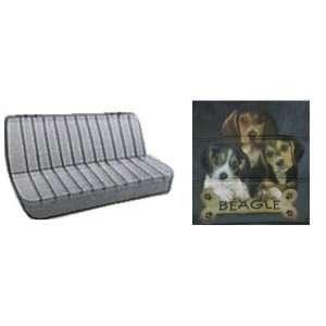 com Car Truck SUV Beagle Trio with Bone Dog Print Rear Bench or Small