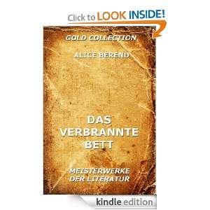 Das verbrannte Bett (Kommentierte Gold Collection) (German Edition