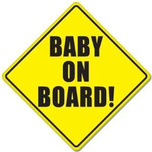 BABY ON BOARD baby safety sign car sticker 5 x 5