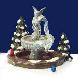 Retired Dept 56 Snow Village   Winter Fountain   Mint