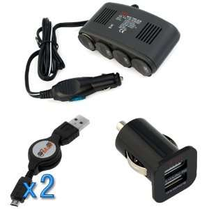 EZOPower 4 Port Car Cigarette Lighter Socket+2 Port USB