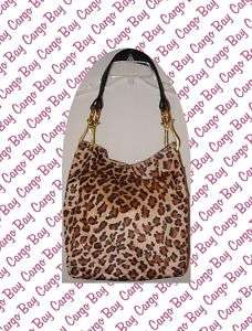 BRACIANO LEOPARD PRINT BROWN PURSE BAG TOTE MORE FREE SHIP @ CARGO BAY