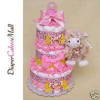 BABY SHOWER GIFT   Little Sheep DIAPER CAKE  BABY CAKE