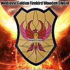 Medieval Golden Firebird Wooden Shield Buckler W Handle