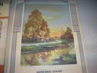 VINTAGE LOT OF 2 ADVERTISING WALL CALENDARS 1944 & 1950