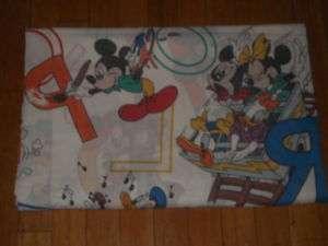 DISNEY MICKEY MOUSE ALPHABET FLAT BED SHEET