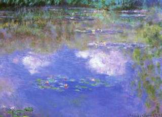 FRAMED Claude Monet THE CLOUD Water Lily Pond Giclee Print Repro