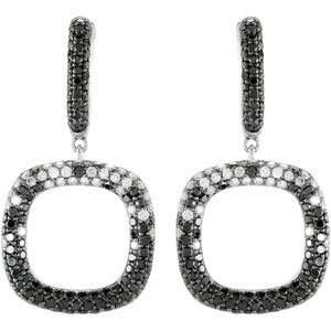 Clevereves 14K White Gold Pair 2 1 6 Ct Tw Black And White