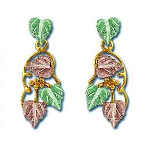 Landstroms Black Hills Gold Dangle Style Earrings, for pierced ears