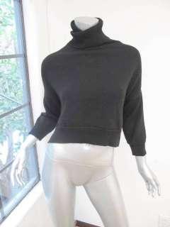 Chloe Black Ribbed Long Sleeve Crop Turtle Neck Sweater S