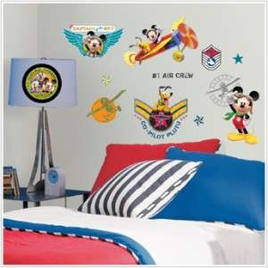 MOUSE PILOT CLUBHOUSE WALL DECALS Disney Stickers Boys Room Decor