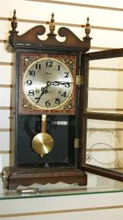 ALARON KEY WIND 31 DAY CLOCK, WALL OR MANTLE, WORKING M