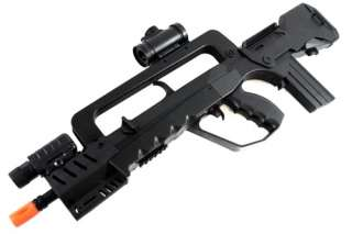 spring assault rifle w flashlight red dot scope and foregrip package