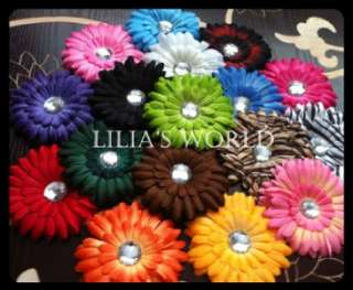 baby girl accessories including 4 gerber daisy flower hair clips kufi