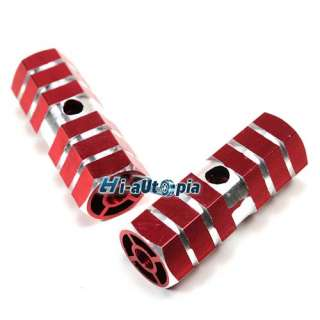 New BMX Bike Bicycle 3/8 Axle Alloy Foot Pegs Red