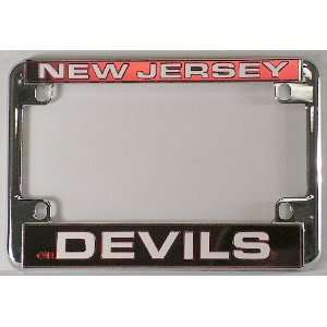 New Jersey Devils NHL Chrome Motorcycle RV License Plate