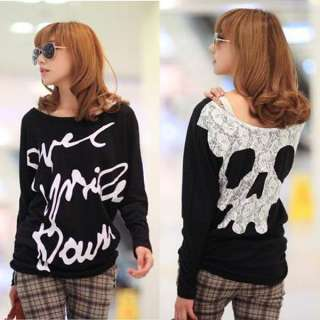as on the model thank you package content 1 fashion girls skull letter