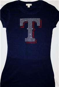 Texas Rangers Bling Jersey Tank Top Tee T Shirt LONG SLEEVE World