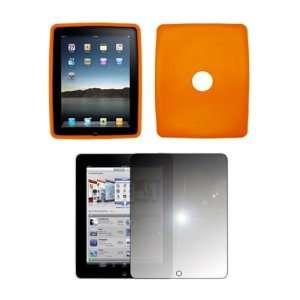 Apple iPad   Premium Orange Soft Silicone Gel Skin Cover