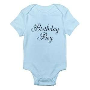Birthday Boy Black Script First Birthday Blue Baby Onesie Shirt   Size