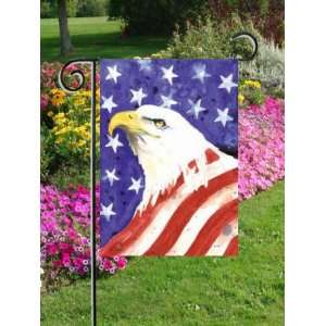 American Flag Eagle Mini Flag: Patio, Lawn & Garden