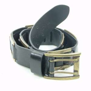 Kooba Womens Textured Leather Belt Black XS