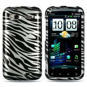 HTC Sensation 4G (T Mobile) Black Silver Zebra Skin