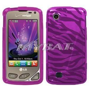 LG Chocolate Touch VX8575 Crystal Skin Hot Pink Zebra Case Cover