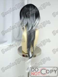 MARCHEN SOUND HORIZON BLACK WHITE long cosplay wig