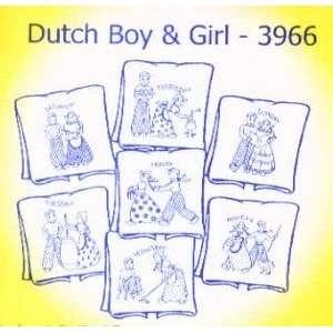 8246 PT W Dutch Boy & Girl by Aunt Marthas 3966 Arts