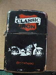 Classic Iron Harley Davidson Blockhead advert Lighter