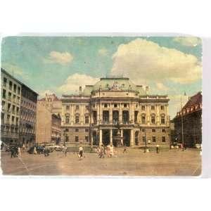 Vintage Czechoslovakia Post Card BRATISLAVA, NARODNE DIVADLO (The