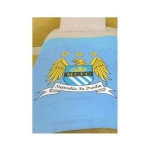 Manchester City Fc Super Soft Fleece Blanket Bed Throw