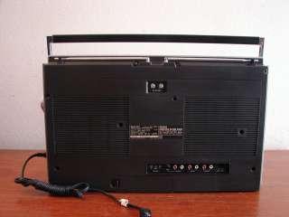 SHARP GF 555 4 BAND DUAL CASSETTE GHETTOBLASTER BOOMBOX NICE