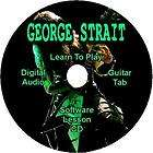 GEORGE STRAIT Guitar Tab Lesson Software CD 9 Songs