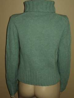 Womens J. CREW Light Green Turtleneck sweater Sz SMALL