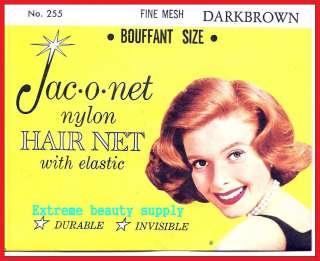 Jac O Net Nylon Hair Net Bouffant with Elastic BOUFFANT SIZE # 255
