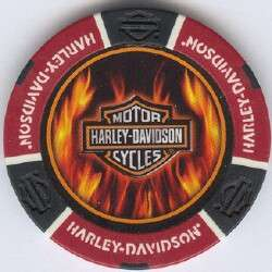 colors HARLEY DAVIDSON FLAMES poker chip sample set #189B
