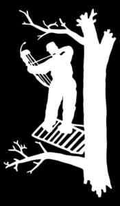 Bow Hunter on the tree Hunting Decal/Sticker